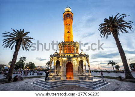 Clock Tower Izmir - stock photo
