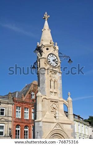 clock tower, Torquay - stock photo