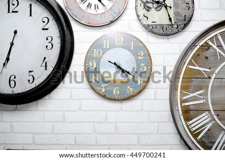 Clock,wall clock isolated on the white background