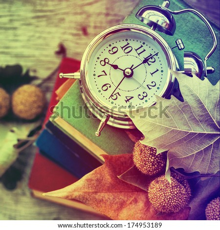 Clock with books