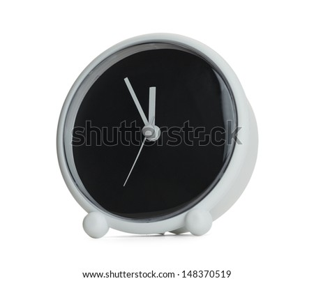 Clock with Copy Space Isolated on White Background. - stock photo