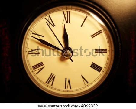 clock with roman numerals - stock photo