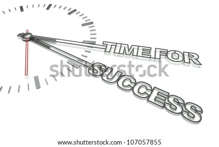 Clock with the words Time for success, concept of business - stock photo