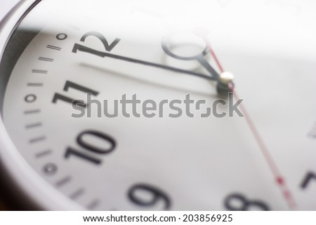 Clock with time walk - stock photo