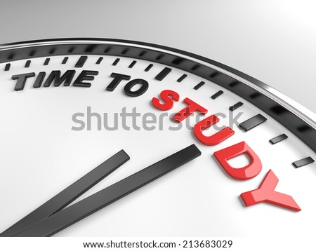 Clock with words time to study on its face - stock photo