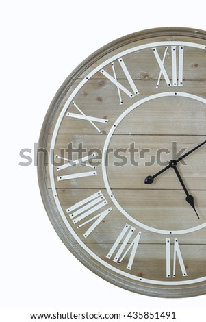 clock wood Isolated