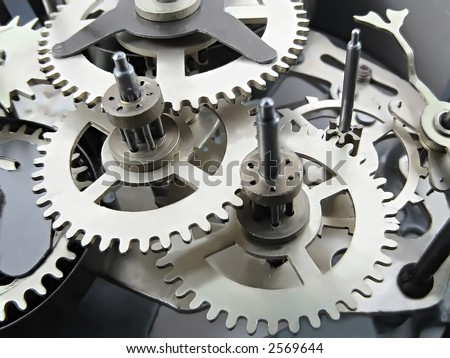 Clock works. [Best for web and small print use] - stock photo
