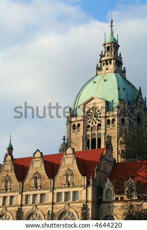 Clocktower of City Hall of Hanover, Germany