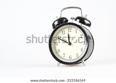 Clockwise motion in afternoon on white background