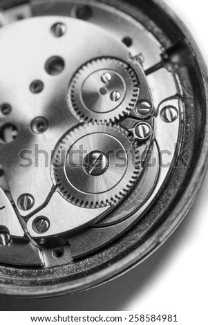 clockwork in black and white