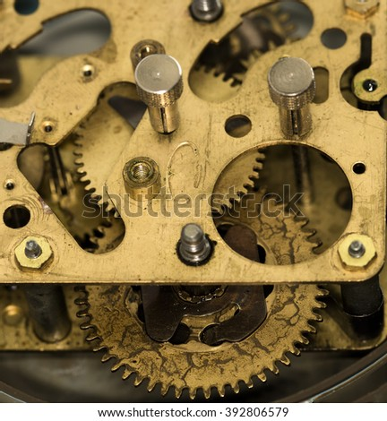 clockwork old mechanical USSR alarm clock