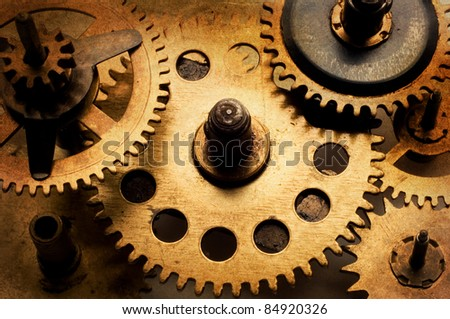 clockworks - stock photo