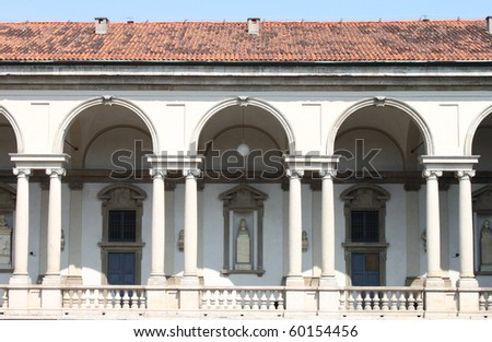 Cloister in a renaissance palace - stock photo
