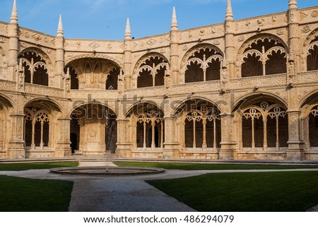 Cloisters at the Jeronimos Monastery