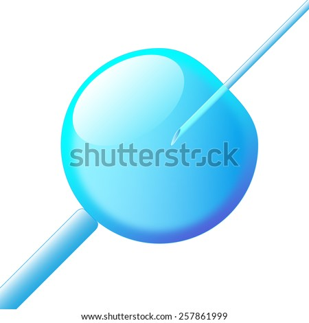 Clone stem cell, Stem Cell Research, cloned human embryos on white background - stock photo