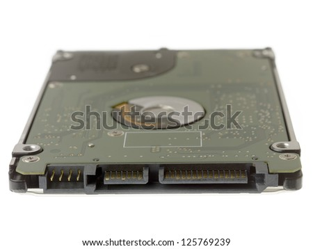 Clos-up of USB port of hard drive. - stock photo