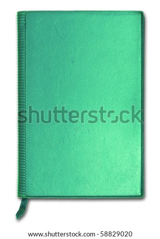 Close green notebook for text and background - stock photo