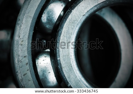 Close of bearing - stock photo