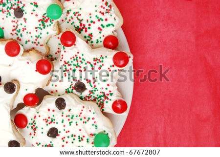 close of christmas cookies - stock photo