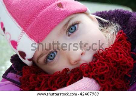 close of little girl - stock photo
