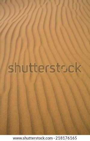 Close of of Sand dunes of Tata in the Sahara Desert, Morocco. - stock photo