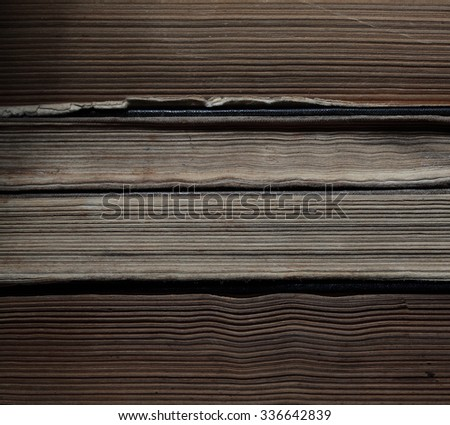 Close of old books - stock photo