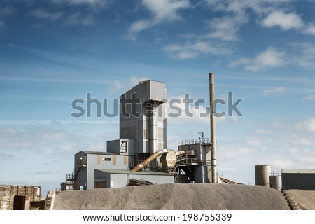 close of shot of an industry building at Whitstable