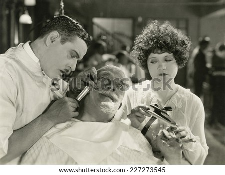 Close shave - stock photo