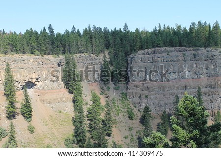 Close to the ridge wall - stock photo