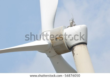 close to the wind power - stock photo