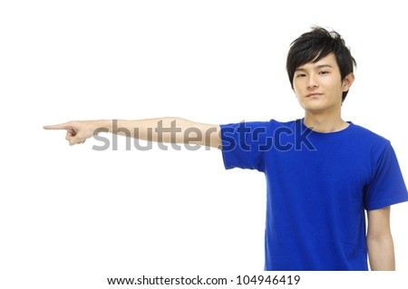 Close up a young man �hand gesture - stock photo