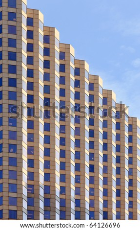 Close up architecture abstract from an office building in downtown Houston. - stock photo