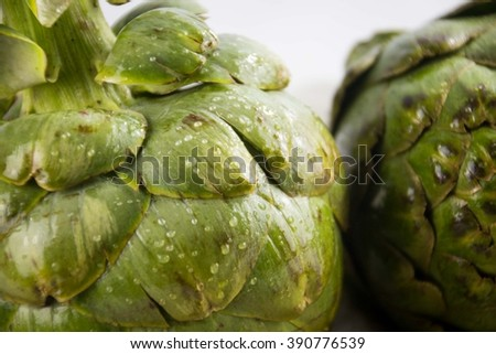 close up artichoke  - stock photo