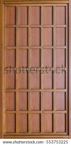 close up background and texture of decorative wood wall pattern