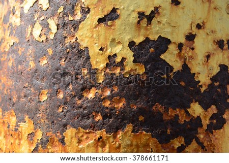 close up background and texture of grunge background iron rusty artistic wall peeling paint