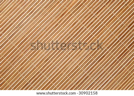 Close up background from bamboo table cloth - stock photo