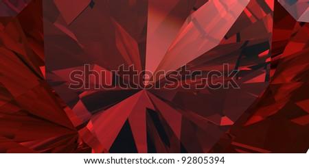 Close-up background of garnet gemstone - stock photo