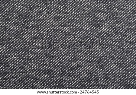 Close-up background picture of black-and-white wool material - stock photo