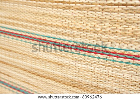 close up Bamboo board or mat background - stock photo
