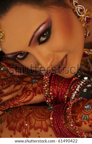 Close up beautiful Asian Bride