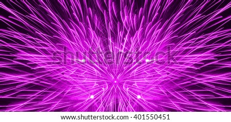 Close up beautiful fireworks in the evening sky. Holiday concept. - stock photo
