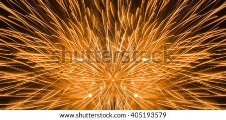 Close up beautiful fireworks in the evening sky. Holiday concept - stock photo