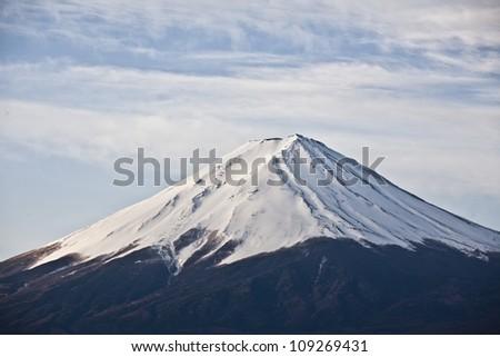 Close up Beautiful Mount Fuji, japan - stock photo