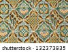 Close up beautiful pattern of batik fabric - stock photo
