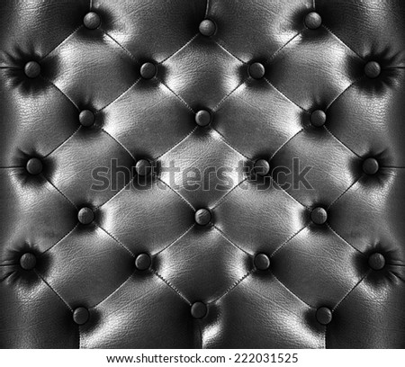 close up Black Leather texture Background - stock photo