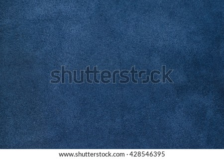 Close up blue color crumpled leather texture background - stock photo