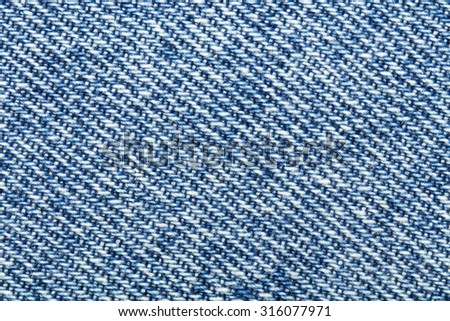 Close-up blue jeans background