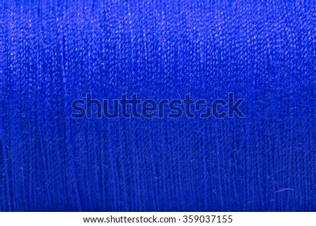 Close up Blue thread texture. - stock photo