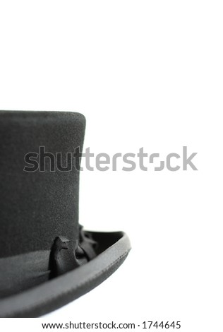Close up bowler hat 2 (with copy space and shallow DOF) - stock photo