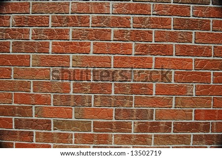 Close up Brick wall - stock photo